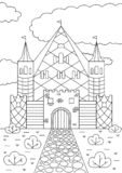 Coloração de tiragem da mão para crianças e adultos Desenhos bonitos com testes padrões e detalhes pequenos ilustração royalty free