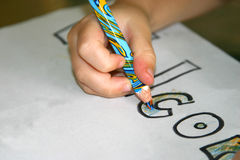 Coloração dentro Imagens de Stock