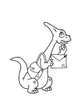 A coloração pagina o dinossauro Foto de Stock