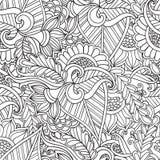 Coloração para adultos Estátua étnica, escultura, boneca com testes padrões Cópia no t-shirt, tatuagem garatuja, zentagl, estilo Imagens de Stock Royalty Free