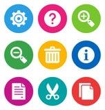 Colora ícones da relação básica Foto de Stock