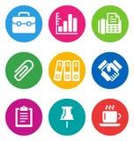 Colora ícones do negócio Fotos de Stock