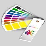 Colora amostras para determinar preferências na indústria de impressão Foto de Stock