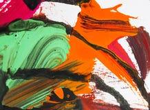 Colora as artes que pintam na textura de papel do sumário do fundo Imagens de Stock Royalty Free