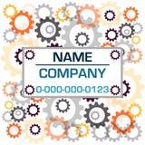 Colora as engrenagens com a etiqueta isolada no fundo branco Ilustração do vetor Imagens de Stock