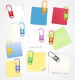 Colora as folhas de papel Imagens de Stock Royalty Free