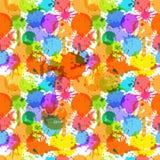 Colora borrões da tinta ilustração royalty free