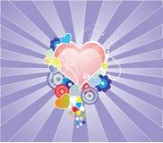 Colora corações Ilustração Stock
