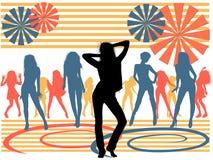Colora a dança Fotografia de Stock
