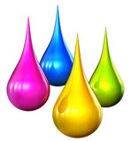 Colora gotas Imagens de Stock