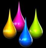 Colora gotas Fotografia de Stock