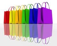Colora i sacchetti di acquisto illustrazione di stock