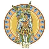Colora a ilustração do vetor do gato isolada no fundo branco Imagens de Stock
