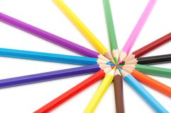 Colora lápis Imagem de Stock Royalty Free