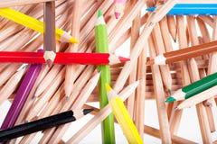 Colora lápis Fotos de Stock Royalty Free