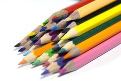 Colora lápis imagem de stock