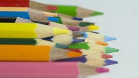 Colora lápis fotografia de stock royalty free