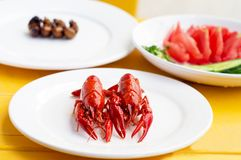 Colora a lagosta pequena fritada Fotografia de Stock Royalty Free