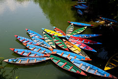 Colora le barche Immagine Stock Libera da Diritti