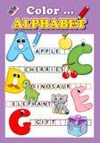 Colora o alfabeto Fotografia de Stock