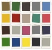 Colora o conceito colorido da pintura do projeto da paleta das amostras de folha ilustração do vetor