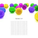 Colora o fundo abstrato das esferas Fotografia de Stock Royalty Free