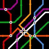 Colora o fundo sem emenda do esquema do metro Imagens de Stock