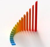 Colora o gráfico Foto de Stock