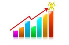 Colora o gráfico de negócio do ful em um fundo branco Foto de Stock Royalty Free