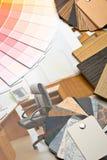 Colora o guia, as amostras de materiais e o catálogo Fotografia de Stock Royalty Free