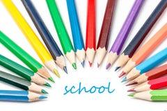 Colora o lápis Fotos de Stock