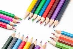 Colora o lápis Imagens de Stock