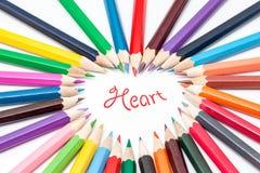 Colora o lápis Imagem de Stock