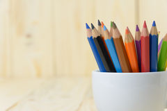 Colora o lápis foto de stock