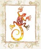 Colora o lagarto em um frame Imagem de Stock Royalty Free