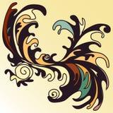Colora o papel de parede abstaktny da pétala em um fundo claro Ilustração Royalty Free