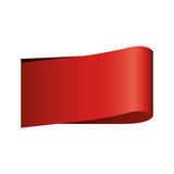 Colora o preço com forma retangular e sombra inferior Foto de Stock