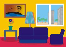 Colora o quarto Imagens de Stock Royalty Free