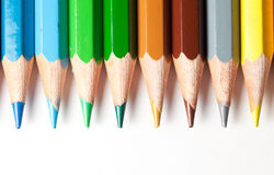 Colora o sumário dos lápis Foto de Stock Royalty Free