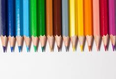 Colora o sumário dos lápis Fotografia de Stock