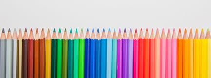 Colora o sumário dos lápis Imagem de Stock