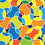 Colora o teste padrão sem emenda das bolas de tênis Imagem de Stock Royalty Free