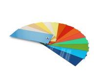Colora a paleta do cartão, catálogo colorido da amostra de folha, ilustração 3d Imagem de Stock