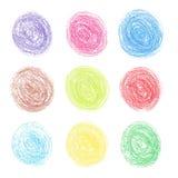 Colora pontos redondos do lápis Imagem de Stock Royalty Free
