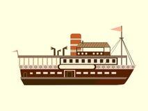 Colora pouco navio retro Imagens de Stock