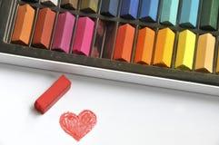 Colora seu amor Imagem de Stock
