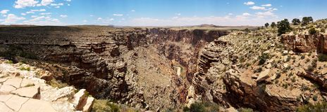 Colorada-Fluss, Grand Canyon, USA stockfotos