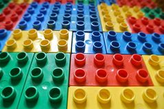Children`s constructions. The colorade children`s constructions Royalty Free Stock Photography