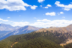 Colorado. With Clouds on blue sky stock photos