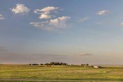 Colorado-Ackerland und -Grasland Lizenzfreie Stockfotos